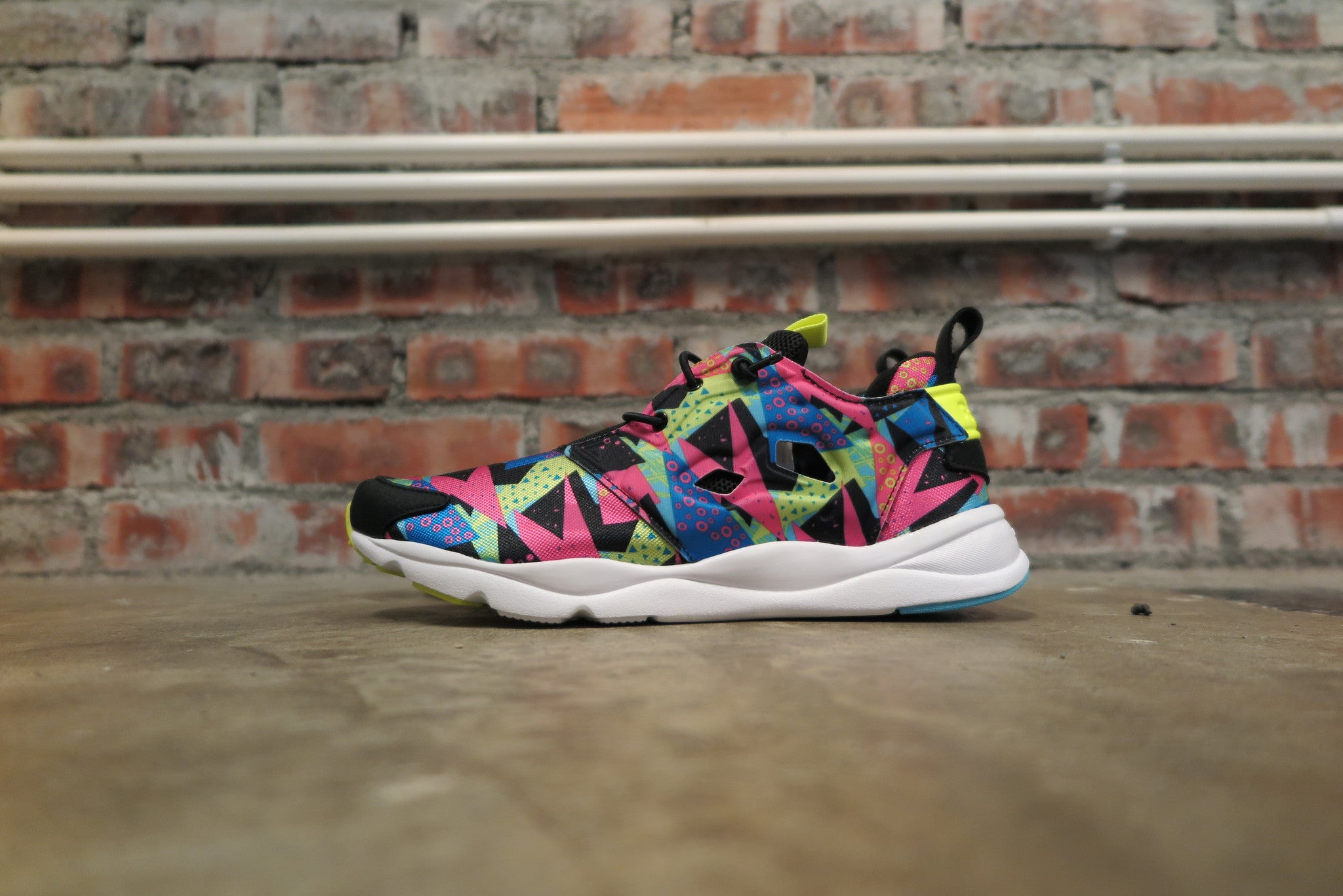 Reebok Furylite - Black/Energy Blue/Solar Pink #V65792-Sneakers-Navy Selected Shop