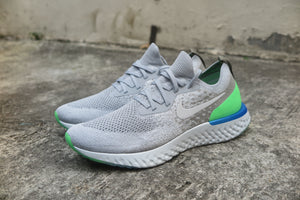 Nike Epic React Flyknit - Wolf Grey/Dark Stucco/Cobalt Blaze/Lime Blast #AQ0067-008-Preorder Item-Navy Selected Shop