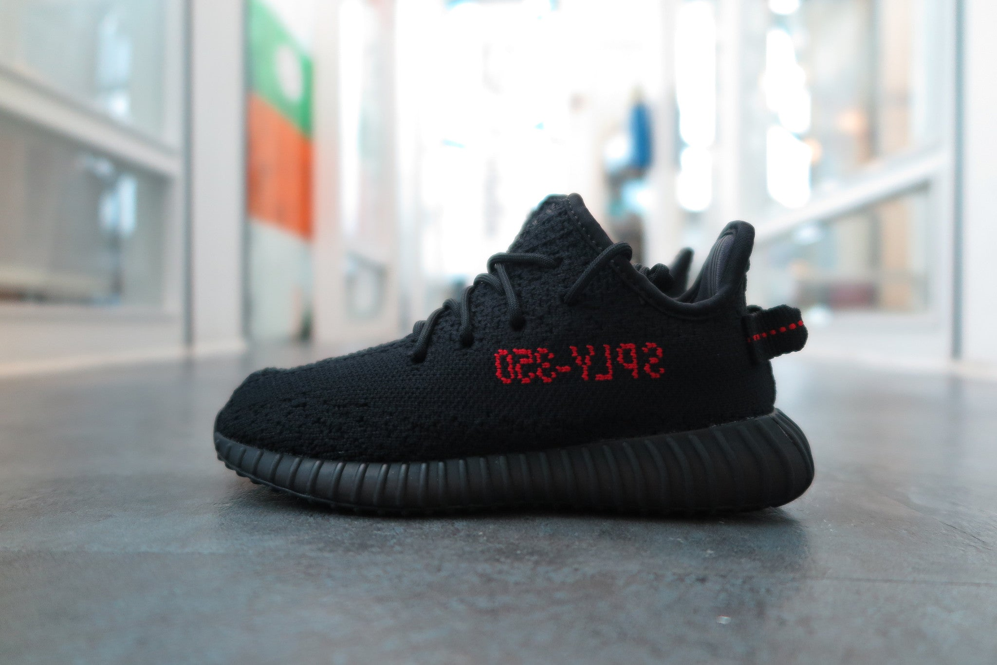 Adidas Yeezy 350 Boost V 2 Black Red Infant BB 6372 sizes 5 C 9 C