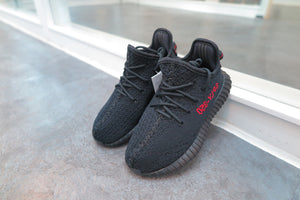 adidas Yeezy Boost 350 V2 Infants - Core Black/Solar Red #BB6372-Baby Shoes-Navy Selected Shop