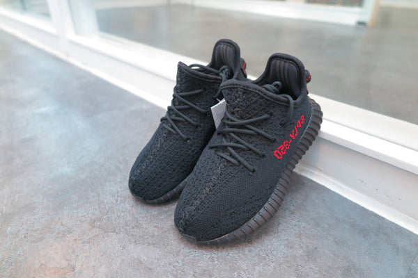 adidas Yeezy Boost 350 V2 Infant - Core Black/Solar Red #BB6372-Baby Shoes-Navy Selected Shop
