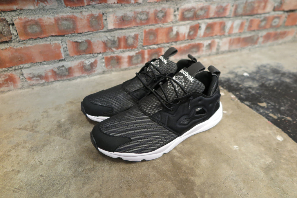 "Reebok Furylite ""Reflective"" in Black/White #V68891-Sneakers-Navy Selected Shop"