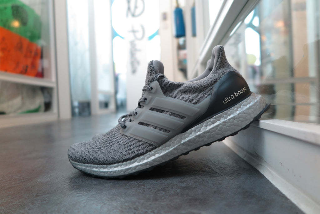 "adidas Ultra Boost 3.0 ""Superbowl Edition - Silver Pack"" - Medium Grey Heather Solid Grey/Dark Grey Heather Solid Grey #BA8143-Sneakers-Navy Selected Shop"