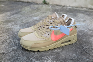 "Off White x Nike Air Max 90 ""The Ten"" - Parachute Beige/Bright Mango #AA7293-200-Sneakers-Navy Selected Shop"