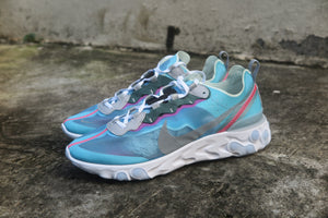 Nike React Element 87 - Royal Tint/Black/Wolf Grey/Solar Red #AQ1090-400-Sneakers-Navy Selected Shop