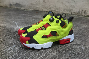 "Reebok Instapump Fury OG ""Citron"" - Black/Green/Red/White #V47514-Sneakers-Navy Selected Shop"