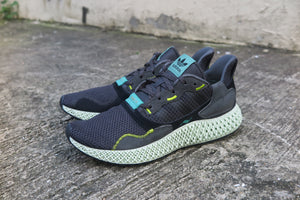 adidas ZX 4000 4D - Carbon/Semi Solar Yellow #BD7865-Sneakers-Navy Selected Shop