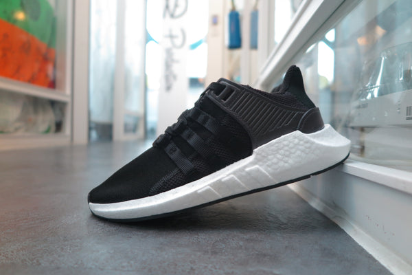 "adidas EQT Support 93/17 ""Milled Leather"" - Core Black/Footwear White #BB1236-Sneakers-Navy Selected Shop"