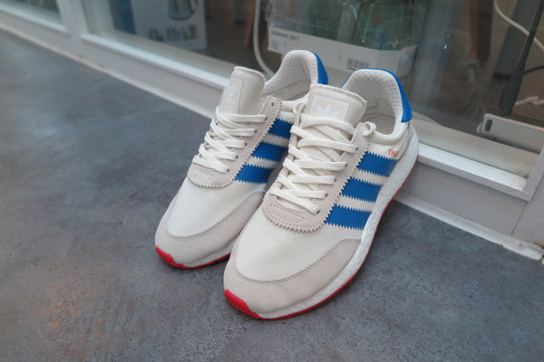 adidas Iniki Runner Boost - Off White/Blue/Core Red #BB2093-Sneakers-Navy Selected Shop