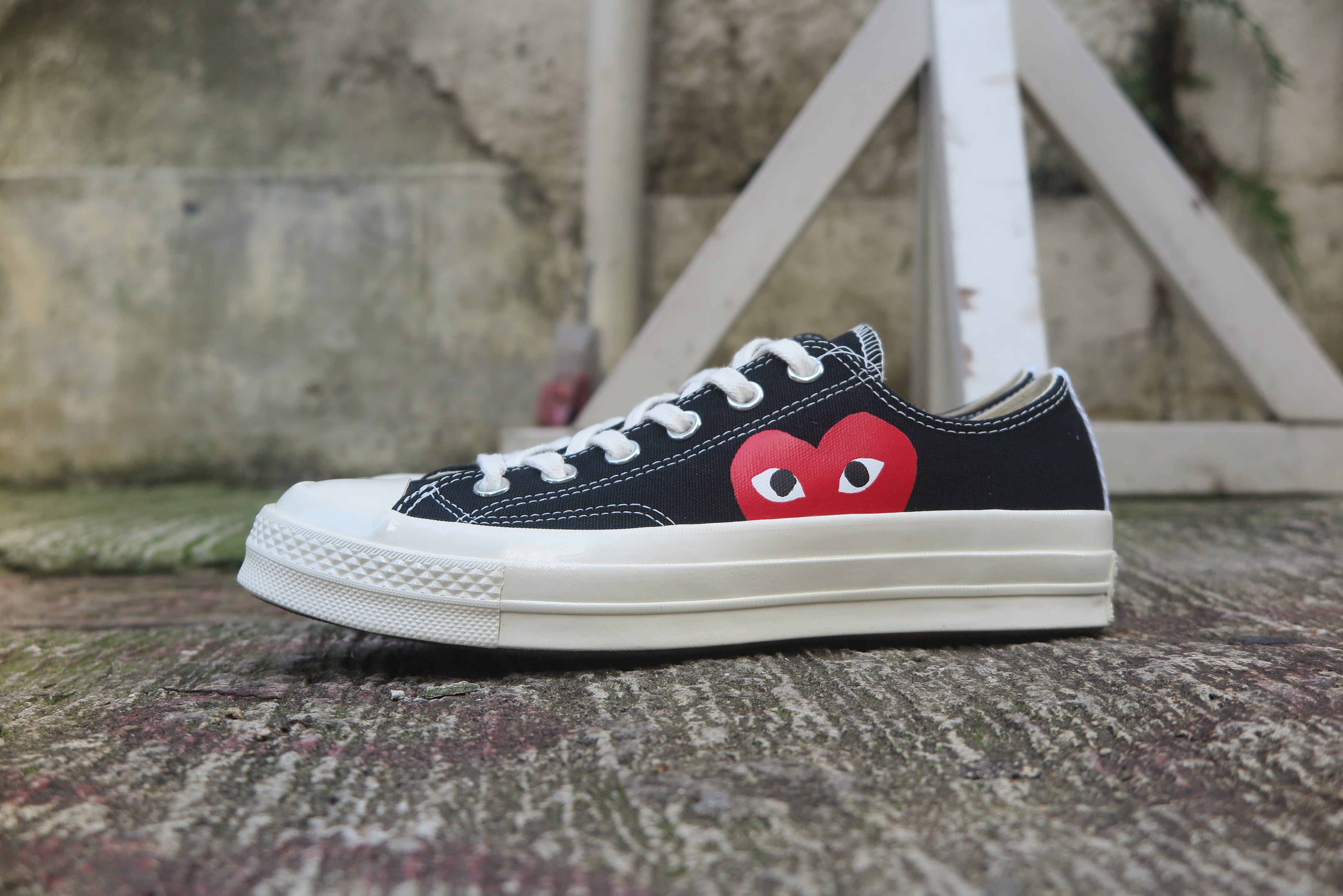 Play Comme des Garçons x Converse Red Heart Chuck Taylor All Star '70 Low - Black #150206C-Preorder Item-Navy Selected Shop