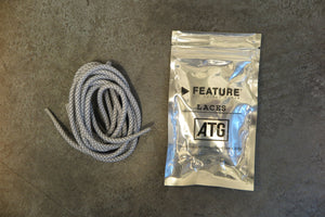 Feature 3M Rope Laces - White-Shoelaces-Navy Selected Shop