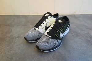 Nike Flyknit Racer - Black/White/Volt #526628-011-Sneakers-Navy Selected Shop