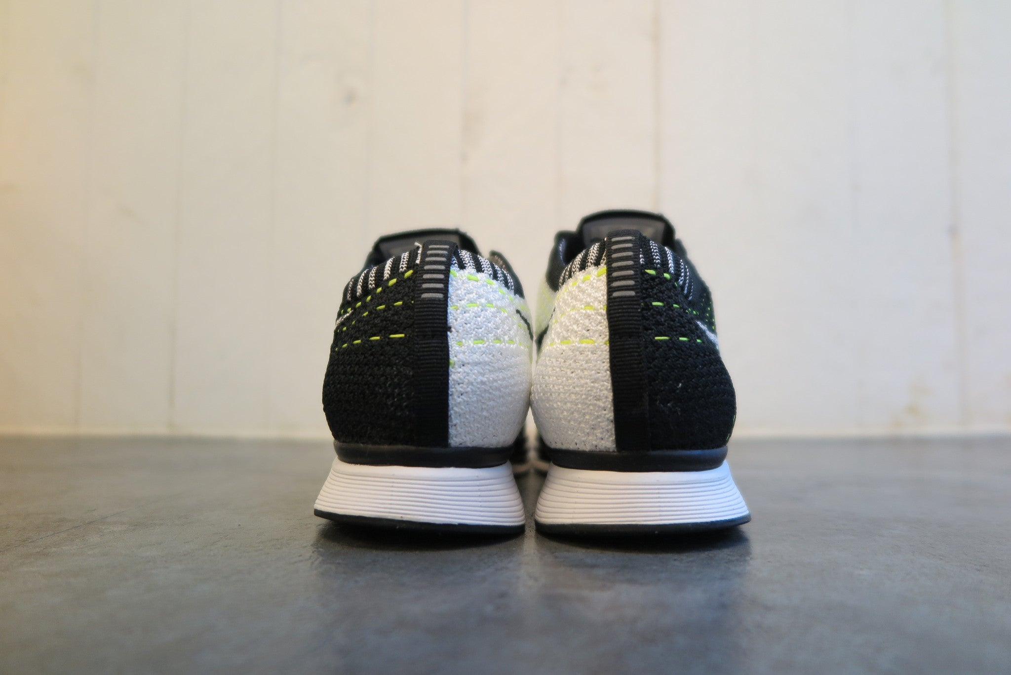 Nike Flyknit Racer in Black/White/Volt #526628-011-Sneakers-Navy Selected Shop