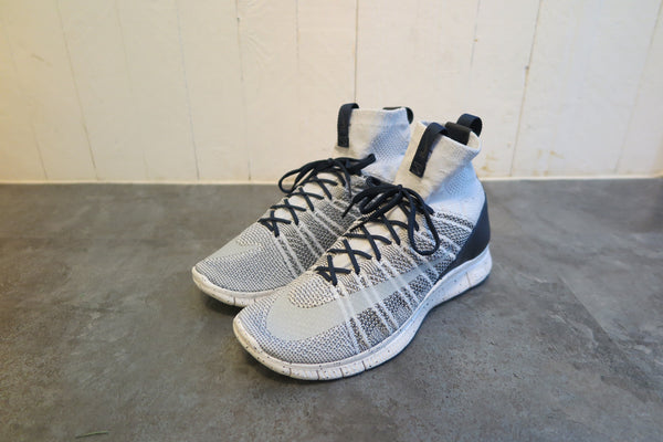 Nike Free Flyknit Mercurial in Pure Platinum/Summit White/Dark Grey/Obsidian #805554-001-Sneakers-Navy Selected Shop