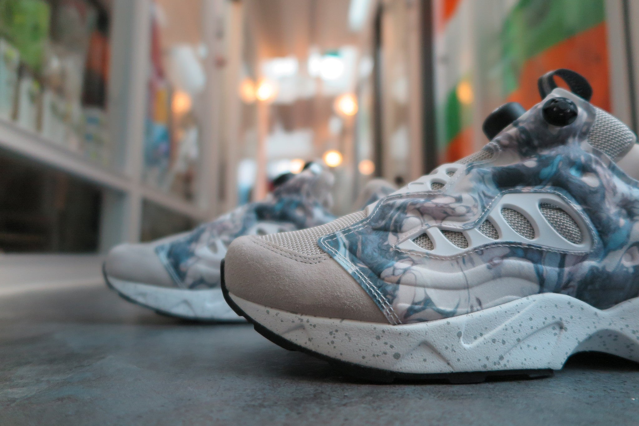Garbstore X Reebok Instapump Fury Road - Mantara/Shady Grey/White/Grey #V65978-Sneakers-Navy Selected Shop