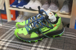 Off White x Nike WMNS Zoom Terra Kiger 5 - Electric Green/Metallic Silver #CD8179-300-Sneakers-Navy Selected Shop