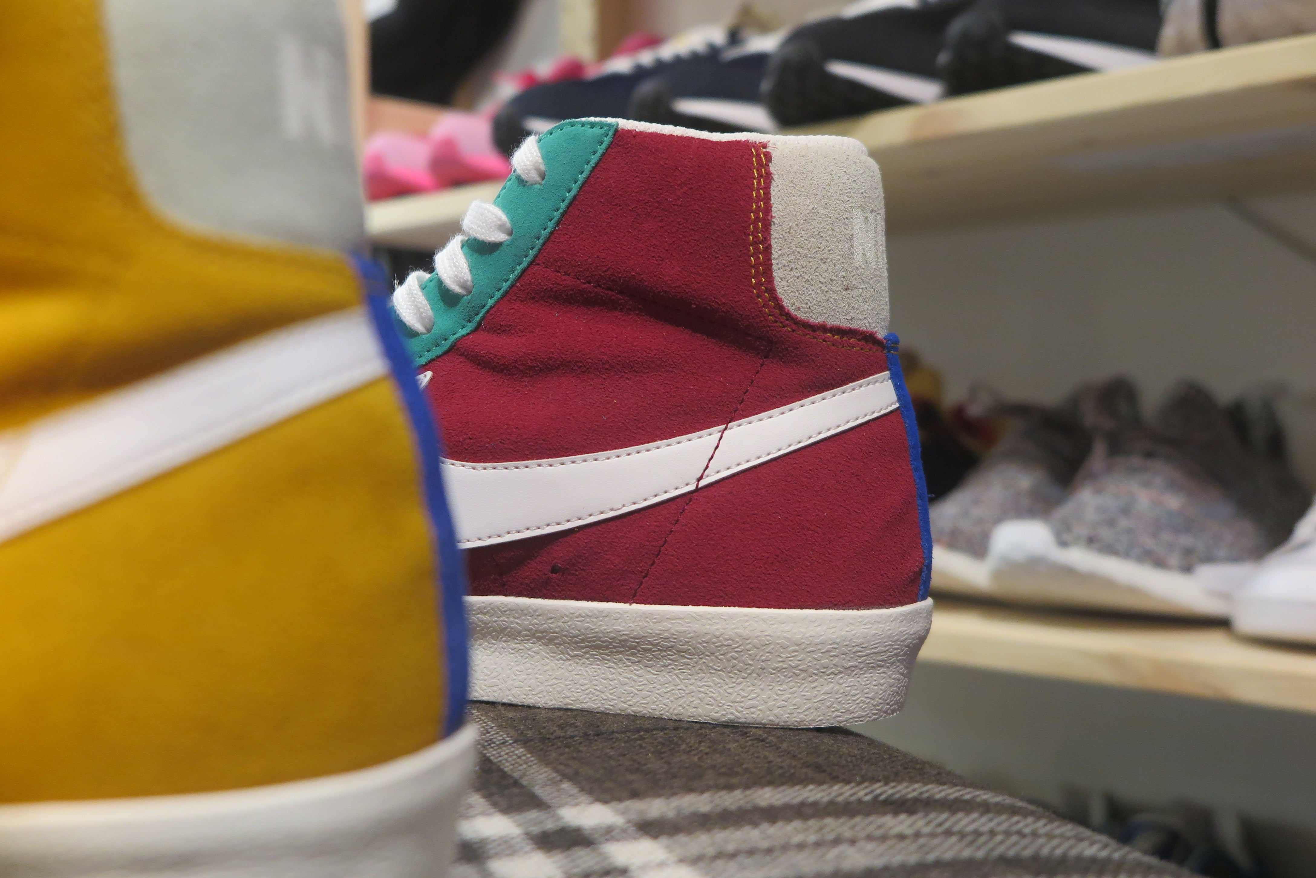 Nike Blazer Mid '77 VNTG Suede - Noble Red/KineticI Green/Jade Aura #CI1167-600-Preorder Item-Navy Selected Shop