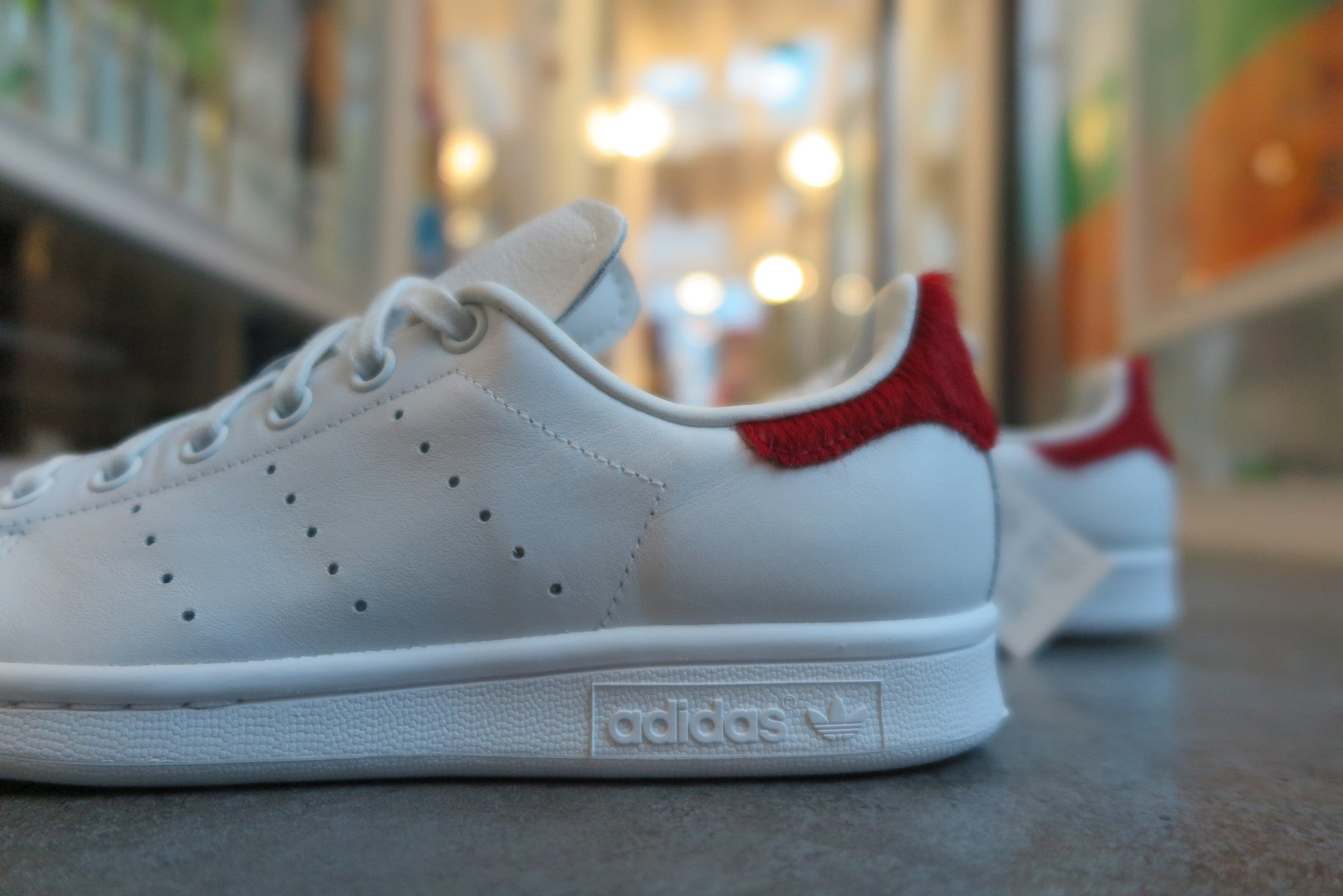 adidas WMNS Stan Smith in Vintage White/Red #S75562-Sneakers-Navy Selected Shop