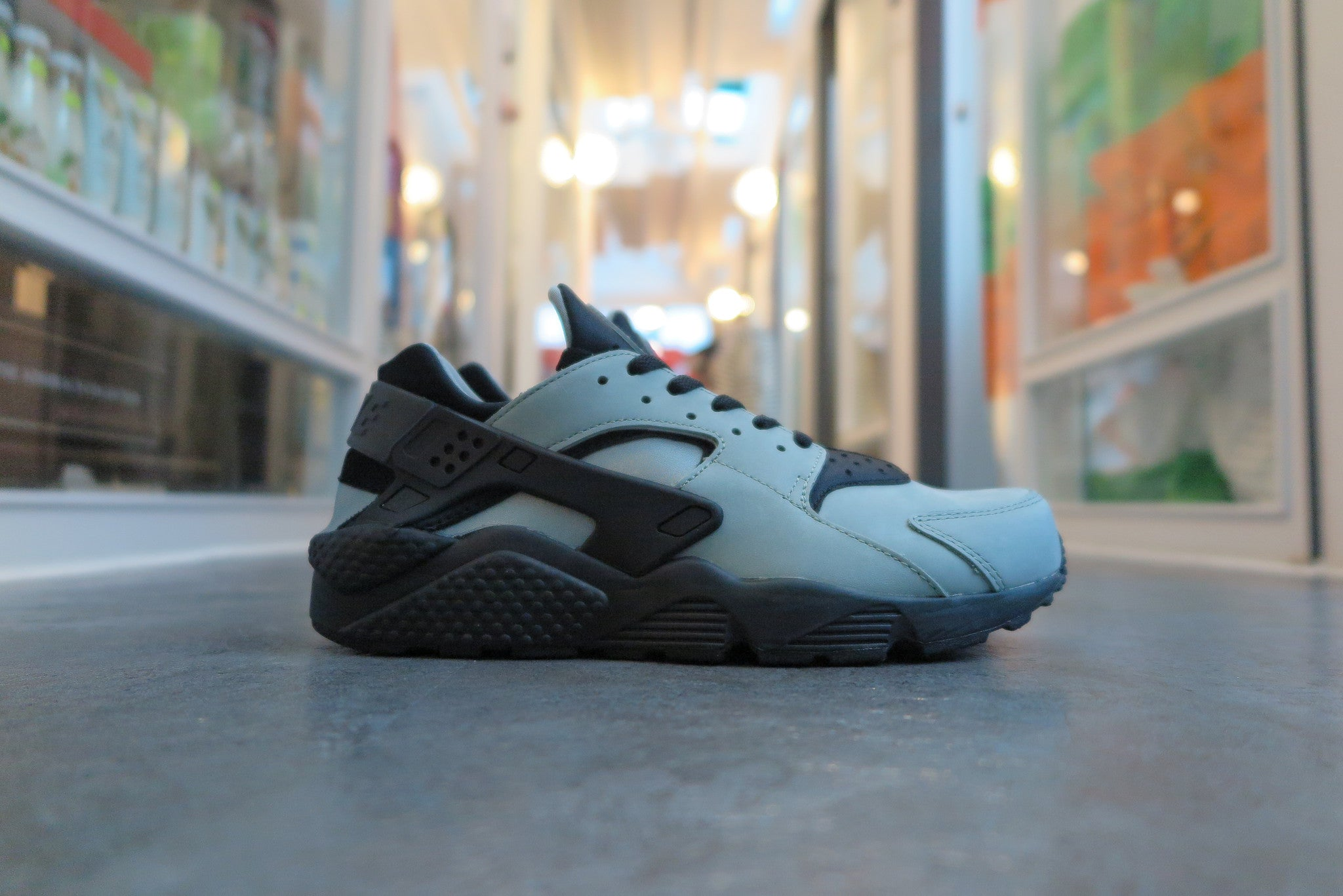Nike Air Huarache Run Premium - Mica Green/Black #704830-301-Sneakers-Navy Selected Shop