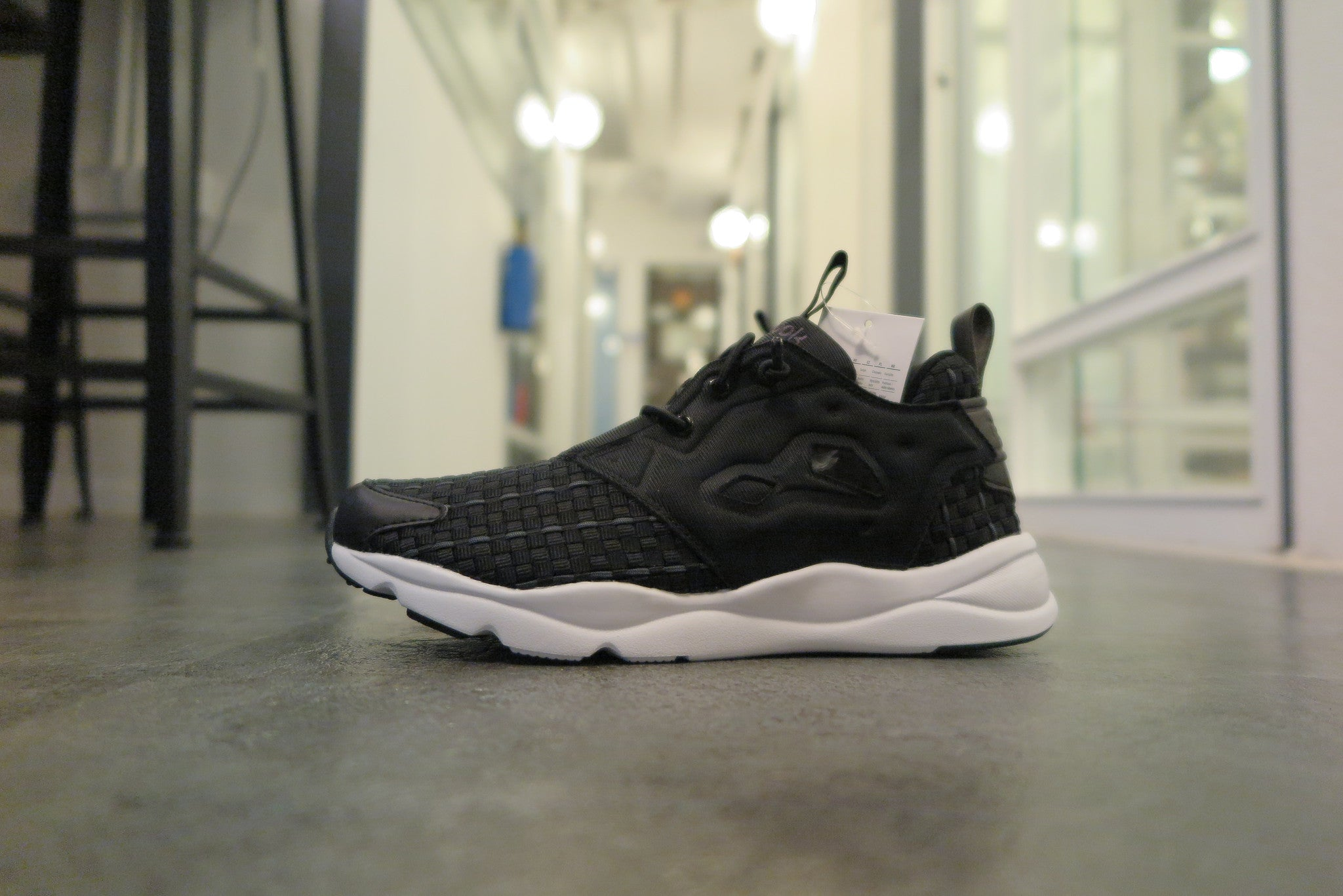 Reebok WMNS Furylite New Woven in Black/Solid Grey/White #V70798-Sneakers-Navy Selected Shop