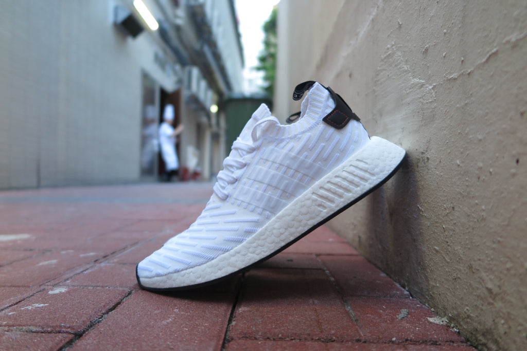 adidas NMD_R2 Primeknit - Footwear White/Core Black #BY3015-Sneakers-Navy Selected Shop