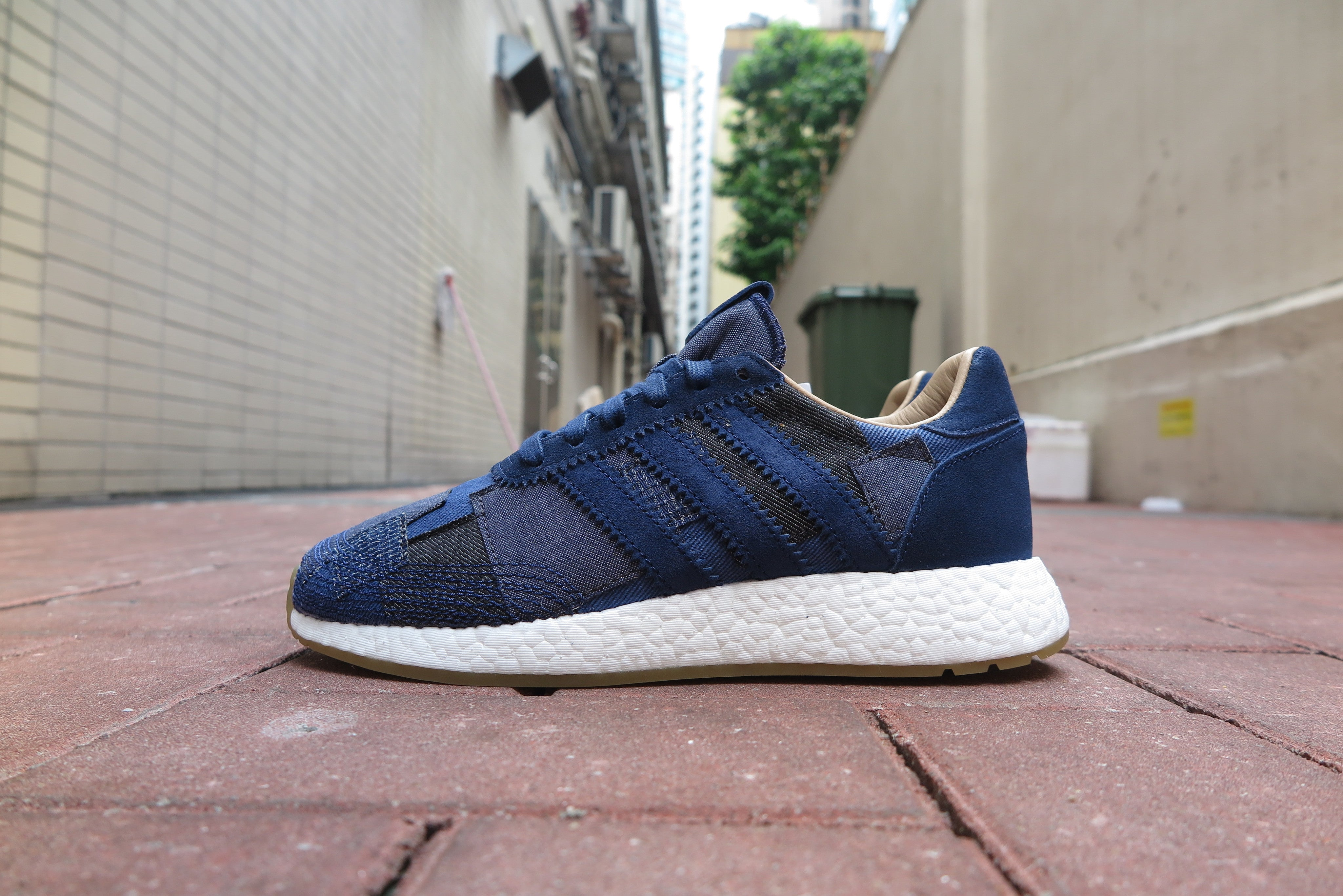 "END. X Bodega X adidas Iniki Runner Boost ""Sneaker Exchange"" - Blue Multi #BY2104-Preorder Item-Navy Selected Shop"