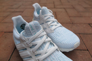 Parley X adidas Ultra Boost 3.0 - Footwear White/Icey Blue #CP9685-Sneakers-Navy Selected Shop