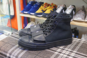 Neighborhood x Converse Chuck 70 Moto Hi - Black/Black #165603C-Sneakers-Navy Selected Shop