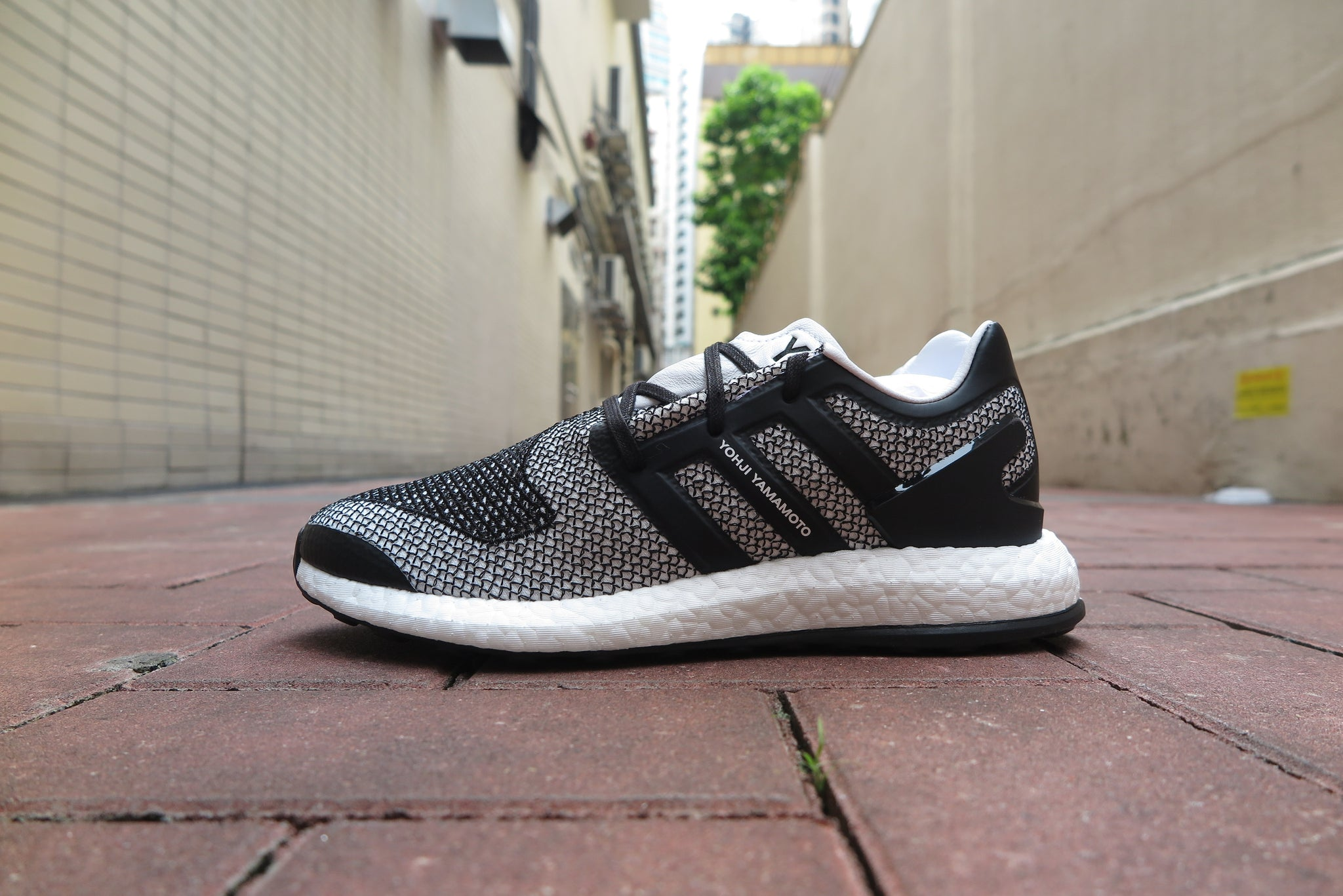 adidas Y-3 Pure Boost Knit - Footwear White/Core Black #CP9888-Sneakers-Navy Selected Shop