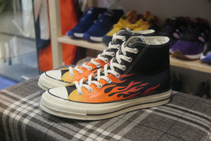 Converse Chuck 70 Archive Print High Top - Black/Enamel Red/Bold Mandarin #165024C-Sneakers-Navy Selected Shop