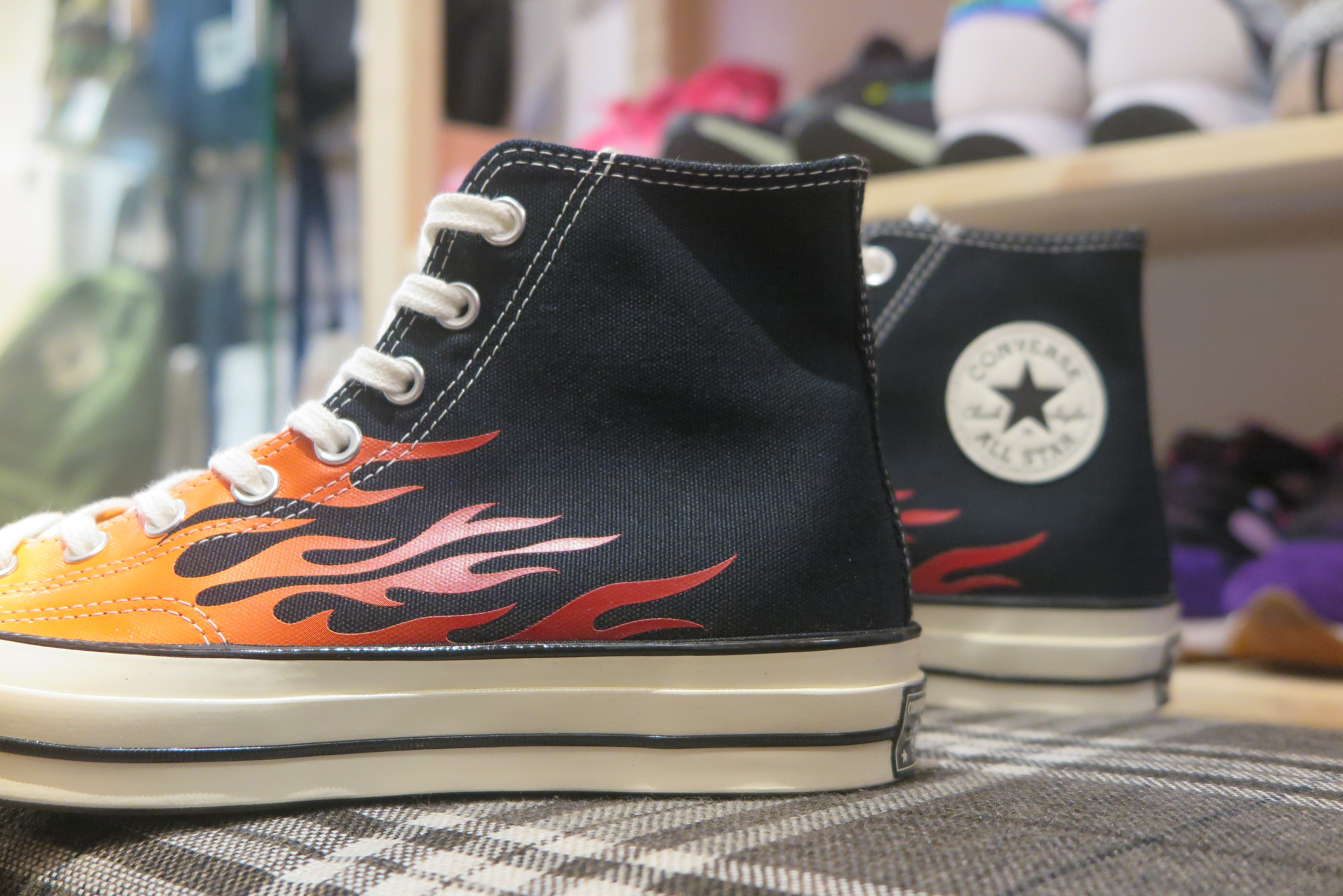Converse Chuck 70 Archive Print High Top - Black/Enamel Red/Bold Mandarin #165024C-Preorder Item-Navy Selected Shop