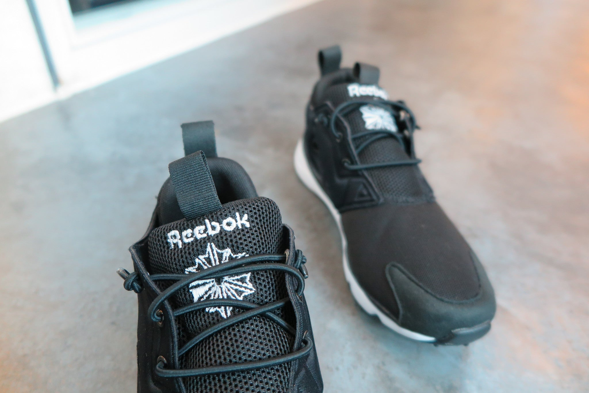 Reebok Furylite - Black/White #V68764-Sneakers-Navy Selected Shop