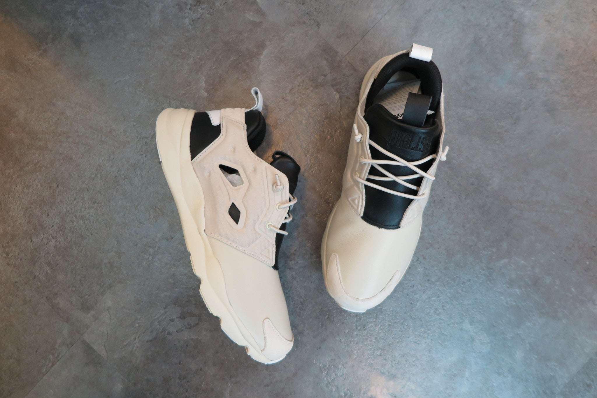 Publish Brand X Reebok Furylite AFF - Oatmeal/Black/White #AQ9298-Sneakers-Navy Selected Shop
