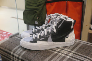 Sacai x Nike Blazer Mid - Black/Wolf Grey/White #BV0072-002-Sneakers-Navy Selected Shop