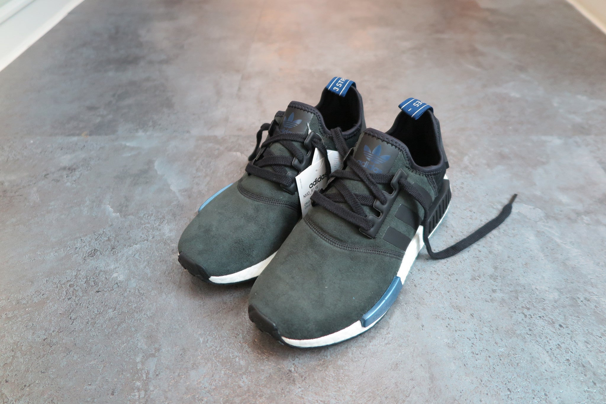 adidas WMNS NMD_R1 - Core Black/Lush Ink #S75230-Sneakers-Navy Selected Shop