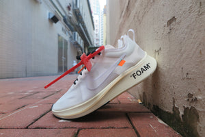 "Off White X Nike Zoom Fly ""The Ten"" - White/Muslin #AJ4588-100-Sneakers-Navy Selected Shop"