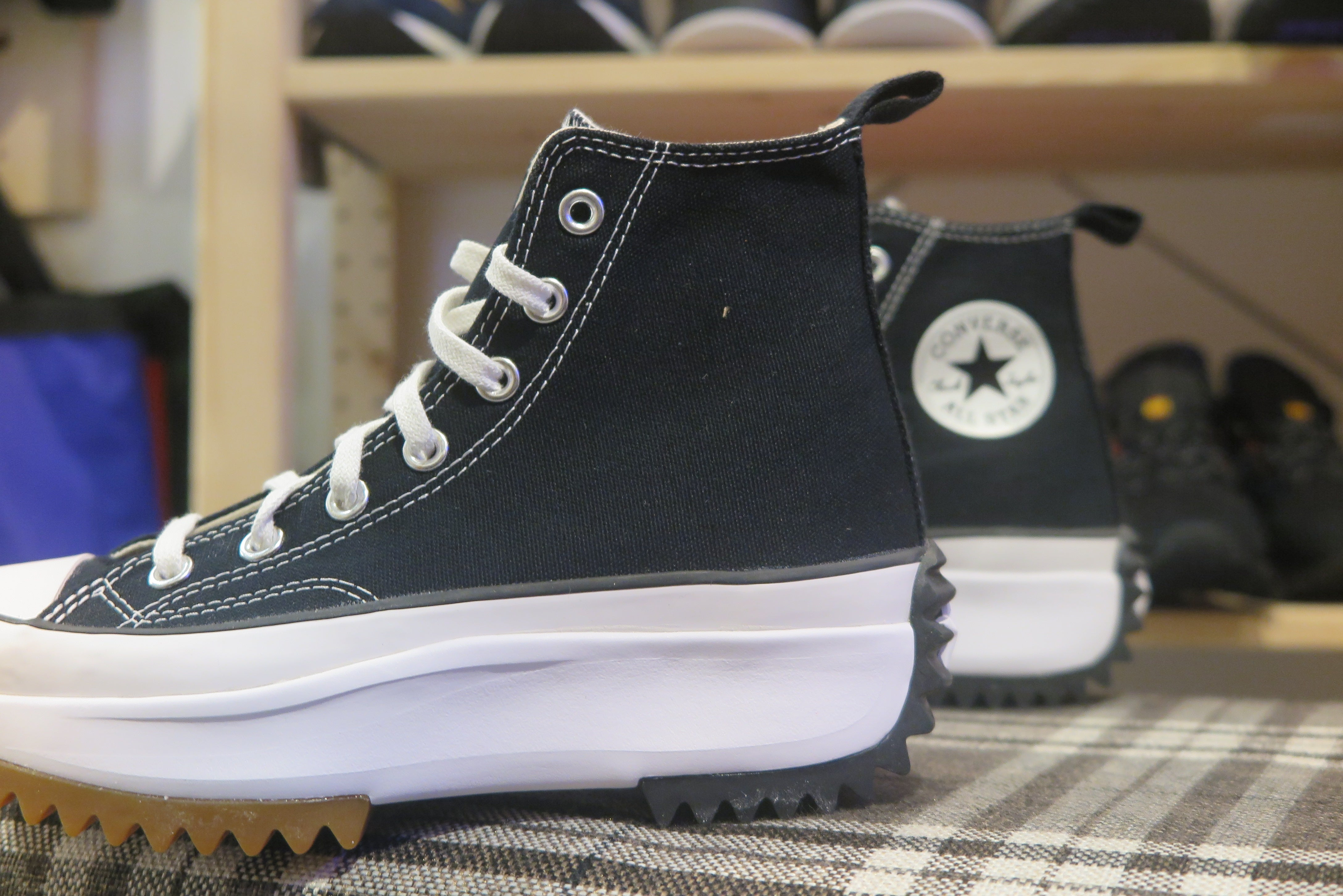 Converse Run Star Hike Hi - Black/White/Gum #166800C-Sneakers-Navy Selected Shop