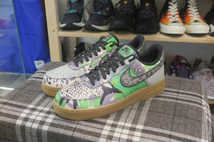 "Nike Air Force 1 '07 QS All Star ""City Of Dreams"" - Black/Green Spark/Gum Light Brown #CT8441-002-Sneakers-Navy Selected Shop"