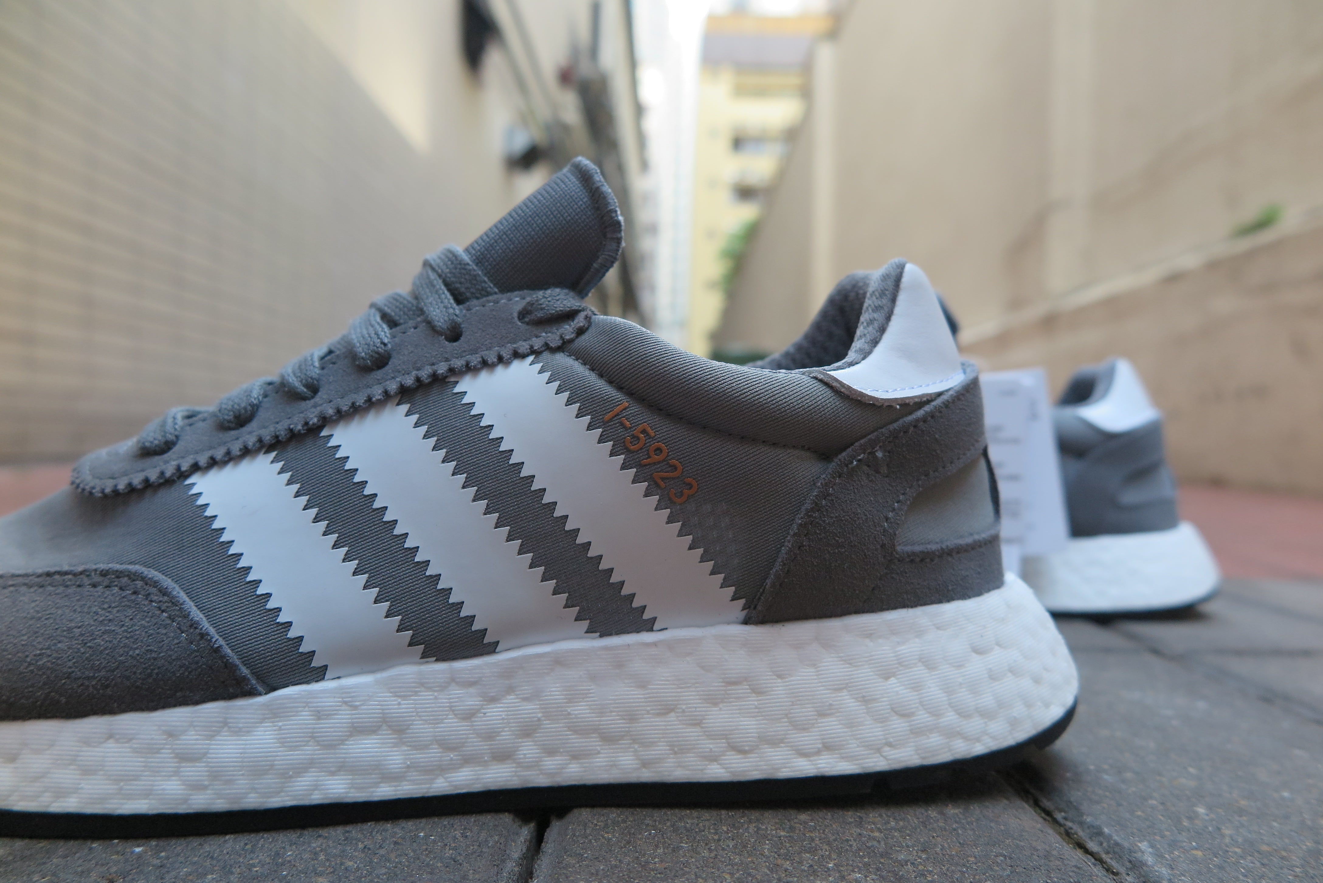 adidas I-5923 - Vista Grey/Running White/Core Black #BB2089-Sneakers-Navy Selected Shop