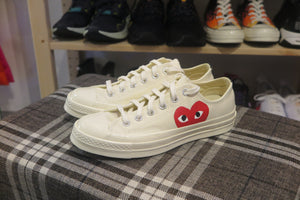 Play Comme des Garçons x Converse Red Heart Chuck Taylor All Star '70 Low - White #150207C-Preorder Item-Navy Selected Shop