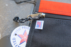 "Drifter Neck Pouch ""Made in USA"" - Black/Mandarin #DF0240-Bag-Navy Selected Shop"