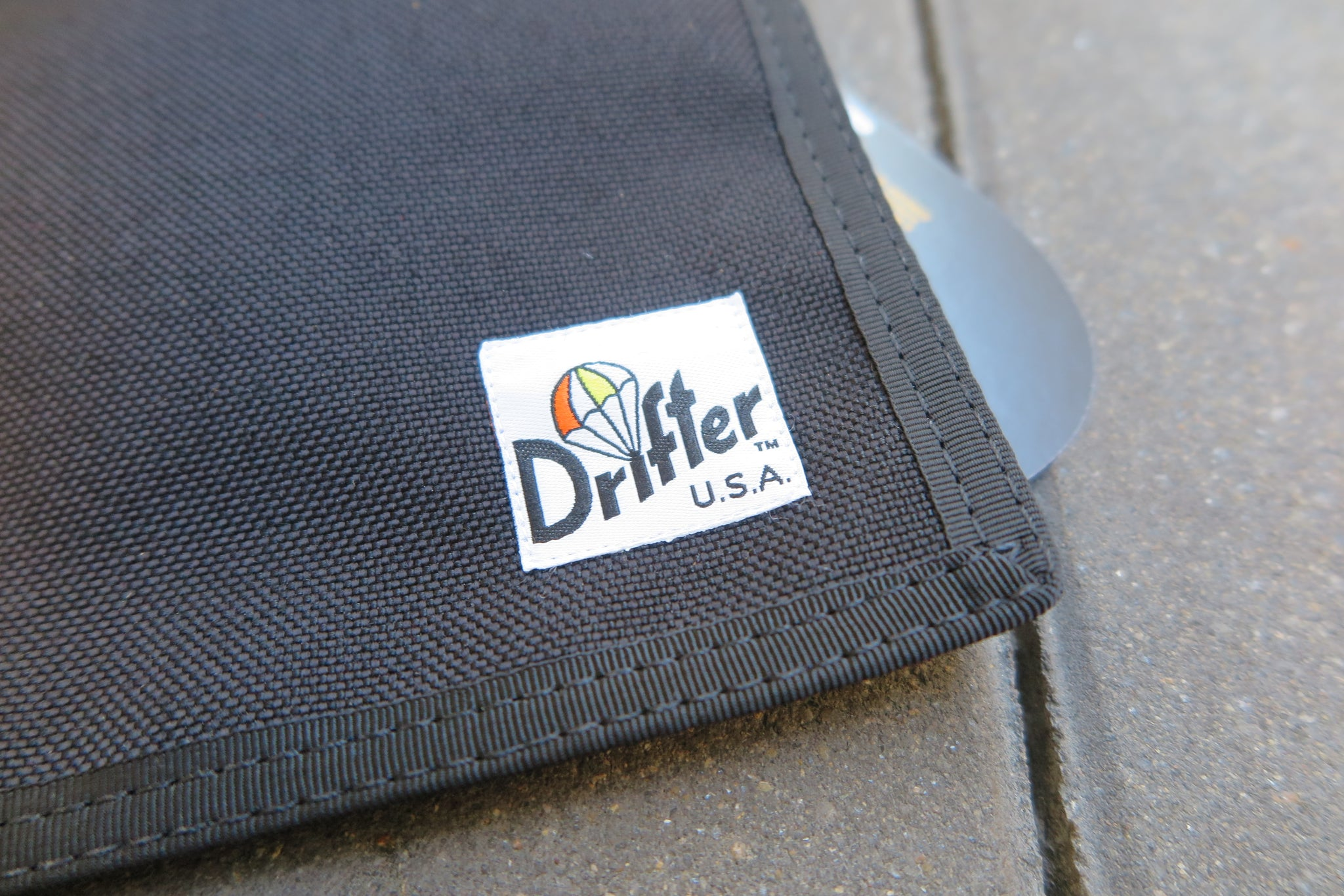 "Drifter Neck Pouch ""Made in USA"" - Black/Ranger #DF0240-Bag-Navy Selected Shop"