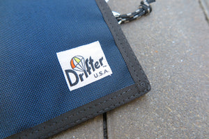 "Drifter Neck Pouch ""Made in USA"" - Navy/Saffron #DF0240-Bag-Navy Selected Shop"