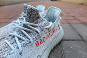 adidas Yeezy Boost 350 V2 - Blue Tint/Grey Three/High Resolution Red #B37571-Sneakers-Navy Selected Shop