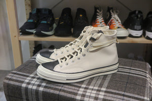 Fear Of God ESSENTIALS x Converse Chuck 70 Hi - Natural Ivory/Black #167955C-Sneakers-Navy Selected Shop