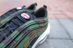 "Nike Air Max 97 Premium QS ""Country Camo Pack - UK Exclusive"" - Raw Umber/Fortress Green/Black Earth #AJ2614-201-Sneakers-Navy Selected Shop"
