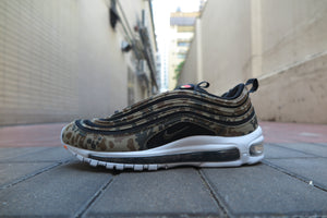"Nike Air Max 97 Premium QS ""Country Camo Pack - Germany Exclusive"" - Bamboo/Black/Dark Khaki/Sequoia #AJ2614-204-Sneakers-Navy Selected Shop"