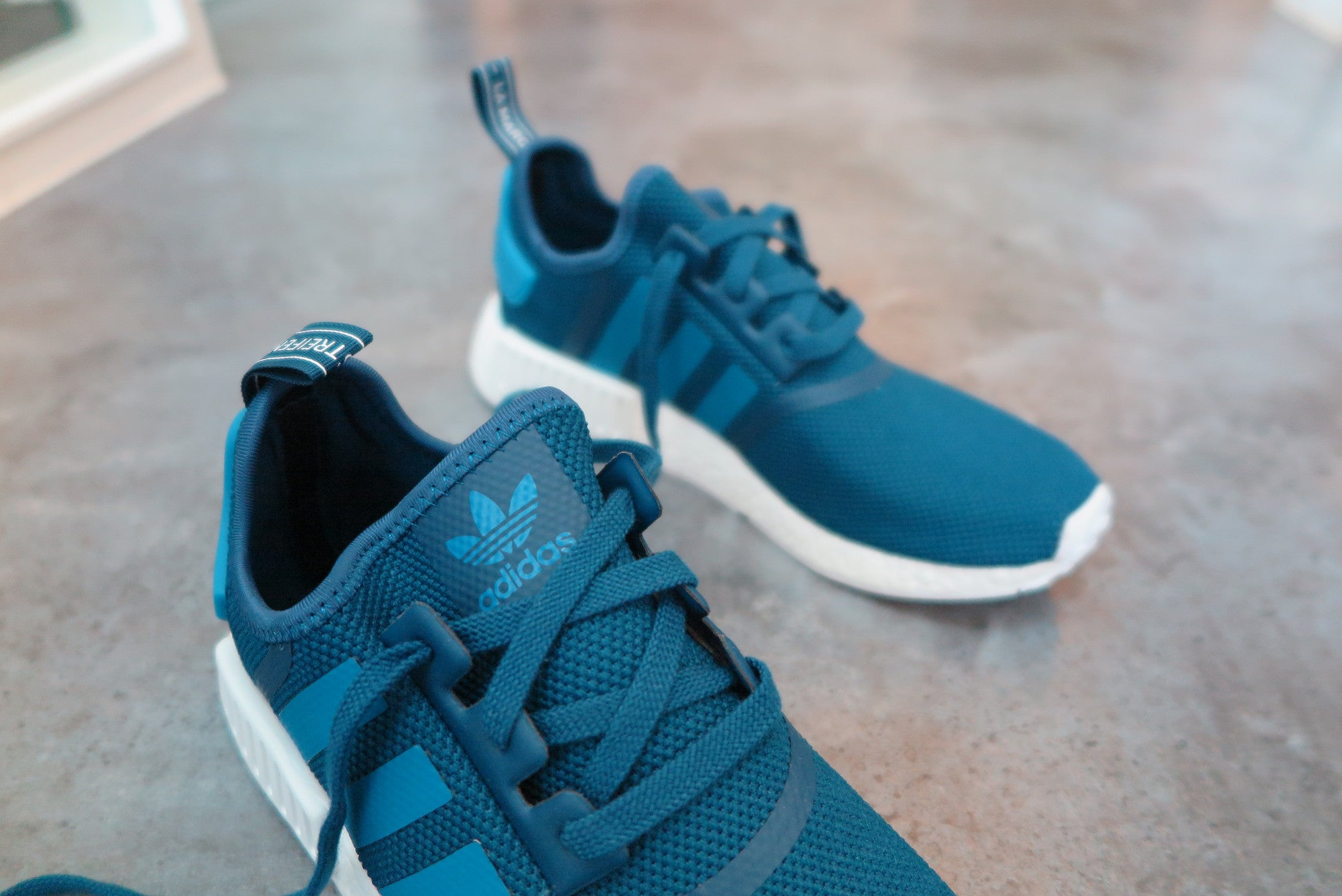 adidas NMD_R1 - Tech Steel/University Blue/Footwear White #S31502-Sneakers-Navy Selected Shop