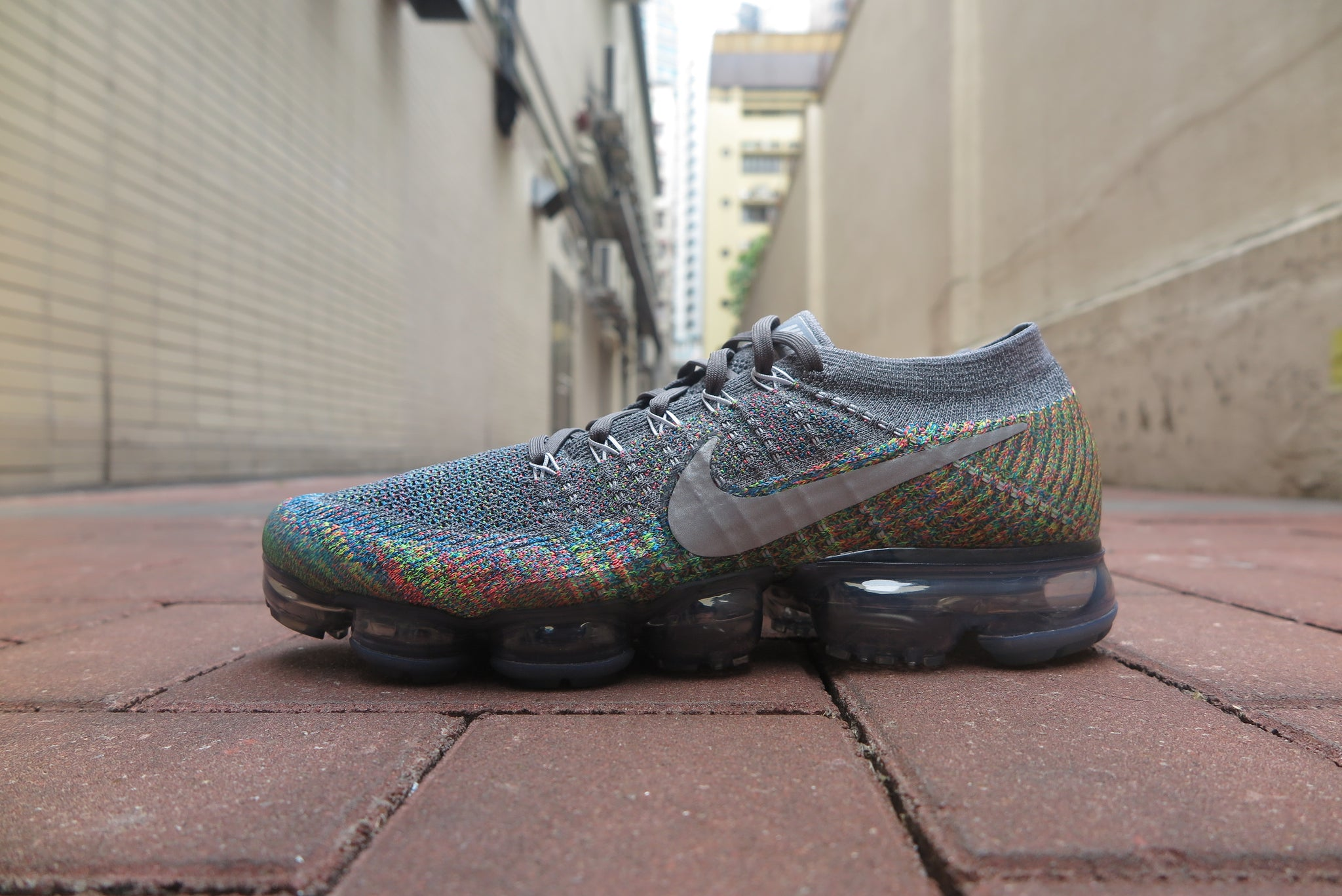 34f5b1c501f4 ... promo code for nike air vapormax flyknit dark grey reflect silver blue  orbit hyper punch 231ba