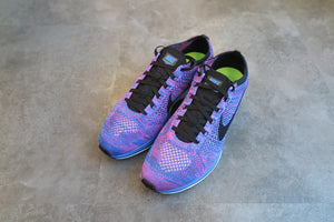 Nike Flyknit Racer - Game Royal/Black/Pink Flash #526628-400-Sneakers-Navy Selected Shop